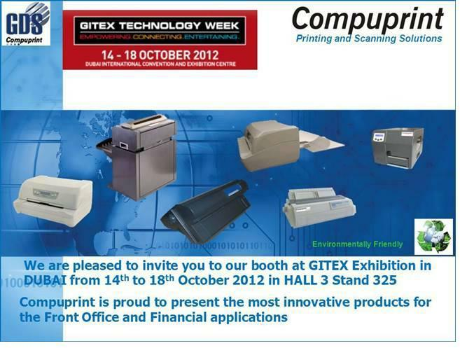 October 2012 Compuprint partecipate at GITEX TECHNOLOGY WEEK - (DUBAI 14-18 October 2012)